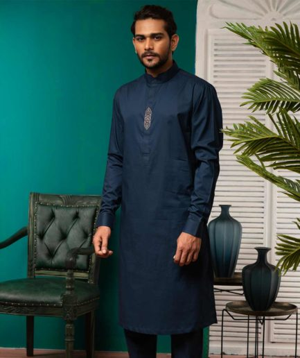 Premium Kabli Set - Royal Navy Blue