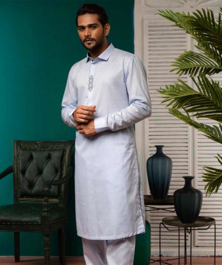 Premium Kabli Set - Pale Blue